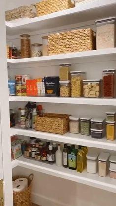 Kitchen Pantry Design, Modern Kitchen Design, Home Decor Kitchen, Interior Design Kitchen, Home Kitchens, Apartment Kitchen, Diy Kitchen Ideas, Kitchen Ideas Videos, Ikea Kitchen Pantry