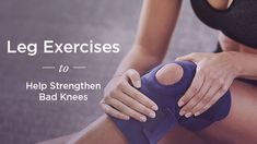 Quad and Hamstring Exercises to Strengthen Bad Knees-Uncomfortable knee pain can interfere with your ability to move around comfortably. These strengthening exercises can help ease any discomfort. Leg Strengthening Exercises, Knee Pain Exercises, Quad Exercises, Hip Stretches, Senior Fitness, Fitness Tips, Health Fitness, Quads And Hamstrings, Glutes