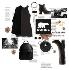 """""""Kick Up the Leaves (Stylishly) With SOREL: CONTEST ENTRY"""" by pandatheod ❤ liked on Polyvore featuring SOREL, Christian Dior, Vivienne Westwood, Alexander Wang, Pieces and sorelstyle"""