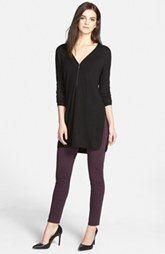 Trouvé Zip Neck Sweater & Paige Denim Skinny Jeans