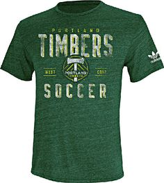 Portland Timbers Men�s Classic Conference Distressed Screened T Shirt by Adidas $25.95