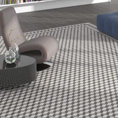 Porcelain wall and floor tiles from Ca' Pietra. These glazed tiles feature a modern and graphic pattern. Glazed Tiles, Wall And Floor Tiles, Decorative Tile, Mosaic Tiles, Moroccan, Home And Garden, Artisan, Home Appliances, Flooring