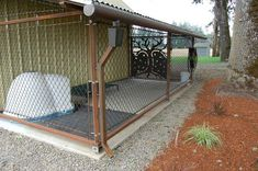 I spent hours over the last year building a dog kennel. My dog, of course, still hates being put in it, but at least it looks nice. (x-post from r/DIY) – dog kennel outdoor Canis, Building A Dog Kennel, Dog Yard, Dog Run Side Yard, Dog Spaces, Dog Pen, Dog Rooms, Outdoor Dog, Indoor Outdoor