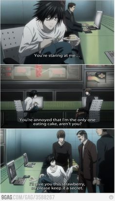 L: The greatest detective at work (Death Note) haha #manga #anime