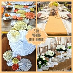 Diy centerpieces for wedding tables diy wedding table runner Diy Wedding Projects, Wedding Crafts, Wedding Decorations, Table Decorations, Wedding Videos, Wedding Stuff, Wedding Photos, Dream Wedding, Do It Yourself Wedding