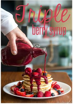 Homemade Triple Berry Syrup from Infarrantly Creative | Vitamix Recipes