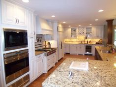 Photo of White Transitional Kitchen project in Atlanta, GA by AK Complete Home Renovations