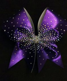 Heavy Scatter 3 inch Cheer Bow with hand-placed by FullOutBowtique