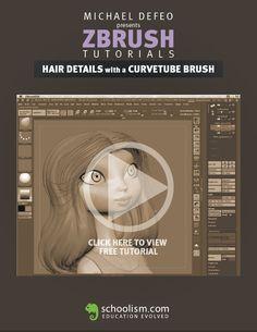 Michael Defeo - Zbrush Tutorial #3d #sculpting #tutorials