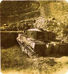 "Abandoned Tiger ""312"" of the schwere Panzer-Abteilung 504 Italy"
