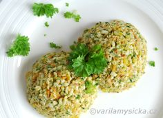 Czech Recipes, Ethnic Recipes, Baby Food Recipes, Cooking Recipes, Polenta, Fried Rice, Vegan Vegetarian, Quinoa, Food And Drink