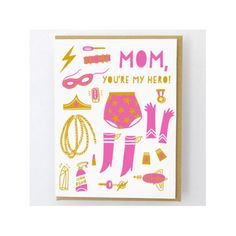 Mom Cards, Fathers Day Cards, Kids Cards, Mother's Day Greeting Cards, Birthday Greeting Cards, Egg Card, Super Mom, Funny Cards, Letterpress