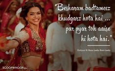 10 Unforgettable Dialogues That Define Deepika Padukone's Memorable Journey In Bollywood Bollywood Love Quotes, Bollywood Movie Songs, Romantic Dialogues, Movie Dialogues, Love Poems In Hindi, Hindi Quotes, Qoutes, Famous Movie Quotes, Tv Show Quotes