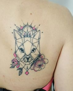 Cat tattoo mandala or graphic?? By moma