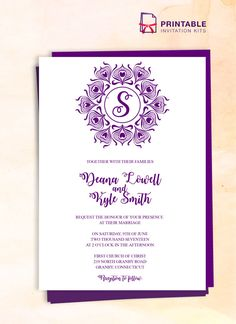 220 best Wedding Invitation Templates (free to print) images on ...