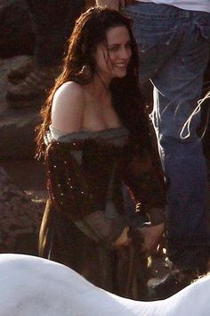 Kristen Stewart filming scenes for Snow White And The Huntsman in 2011 [Photo: Splash News Online]