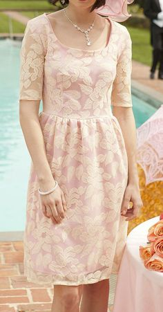 Pink Floral Cherish You Dress- this would be nice for the mother of the bride/ groom