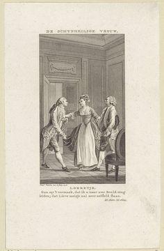 Reinier Vinkeles | Twee mannen en een vrouw in gesprek, Reinier Vinkeles, 1778 |