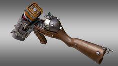 ArtStation - Futuretta Shotgun Rifle, Facundo Giovannone Cosplay Weapons, Sci Fi Weapons, Weapon Concept Art, Weapons Guns, Fantasy Weapons, Steampunk Gun, Homemade Weapons, Bfg, Cool Guns