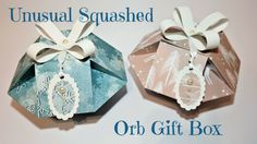 Hi everyone today I have these unusual Squashed Orb Gift Boxes.   I absolutely love these and for those of you who follow me regularly will have seem the Orb Tree Decorations I posted last wee…