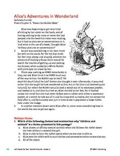cause and effect worksheet alice s adventure in wonderland  cause and effect worksheet alice s adventure in wonderland worksheets worksheets and comprehension activities