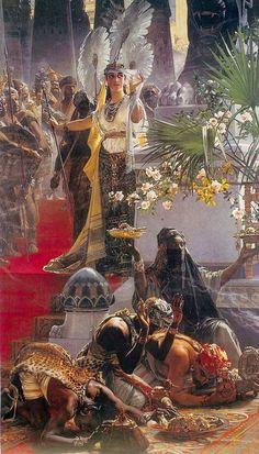 Queen of Sheba by Julius Kronberg, (1850-1921), Sweden