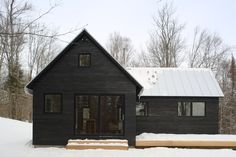 PROJECTS — northern timbers construction is part of Modern barn house - Modern Barn, Modern Farmhouse, Construction Chalet, Black House Exterior, Dark House, House Goals, House In The Woods, House Colors, Exterior Design