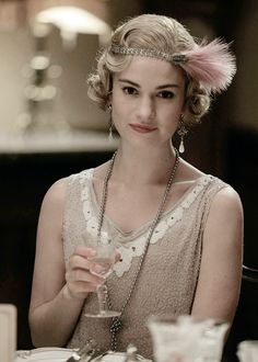 "lilyjamessource: "" ""Lily James as Lady Rose MacClare in Downton Abbey's Season 6 Christmas Special. "" """