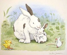 The Little Honey - All Together Now - watercolor by Anita Jeram