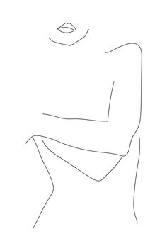 Lines - poppyonto - Dessins Minimalistes - Hollowen : Fine Lines - poppyonto - Dessins Minimalistes -Fine Lines - poppyonto - Dessins Minimalistes - Hollowen : Fine Lines - poppyonto - Dessins Minimalistes - Beauty Canvas Art Print by Honeymoon Hotel Minimalist Drawing, Minimalist Art, Minimal Drawings, Easy Drawings, Outline Art, Body Outline, Abstract Line Art, Fine Line Tattoos, Woman Drawing