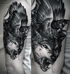 Cool Wolf Tattoos For Men