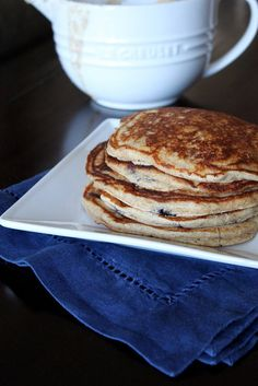 healthy and delicious - blueberry yogurt multigrain pancakes