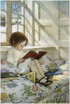 Jessie Wilcox Smith   This would so be me.  :)