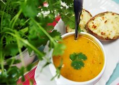 Carrot and coriander soup recipe | Soups