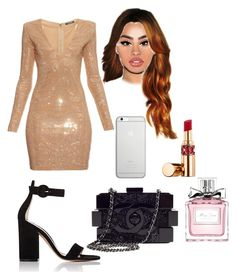 """Tenue#279"" by hymalaya ❤ liked on Polyvore featuring Balmain, Gianvito Rossi, Chanel, Native Union, Yves Saint Laurent and Christian Dior"
