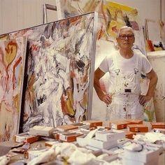 Willem de Kooning in the studio.