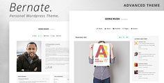 Bernate - Personal WordPress Theme • Download theme ➝…