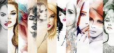 Find Woman Face Hand Painted Fashion Illustration stock images in HD and millions of other royalty-free stock photos, illustrations and vectors in the Shutterstock collection. Flower Graphic, Graphic Art, Hand Painting Art, Painting Prints, Art Print, Watercolor Illustration, Watercolor Tattoo, Face Illustration, New Makeup Trends