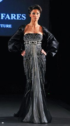 Jean Fares Couture - Fall 2008 by bnittoli, via Flickr-ditch the shawl, beautiful dress
