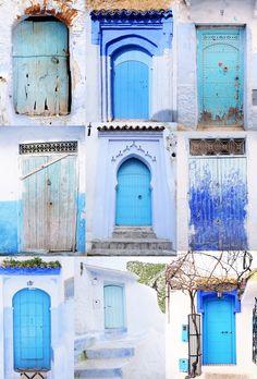 Moroccan Blue Door Collage