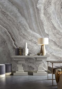 Celebrating the elements this mural hones in on the Crystaline forms of organic minerals to create an ethereal and stylish feature wall. The elegant taupe colour palette highlights the delicate structure of the material and brings this design to life. Best Interior Design, Interior Design Inspiration, Wall Murals Uk, Kelly Hoppen Interiors, Stunning Wallpapers, Contemporary Classic, Modern, Dream Decor, Beautiful Wall