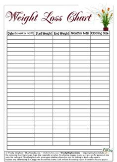 weight loss chart free printable | Weight Loss Goal Thermometer ...