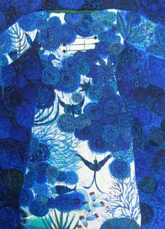 robe azyiadé painting on canvas by Valérie Belmokhtar