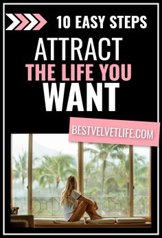 10 Deadly easy steps to attract your dream life. Manifestation, law of attraction.  #manifestyourdreamlife #lawofattraction #liveyourbestlife The Life, Life Is Good, Yoga To Relieve Stress, Live Your Truth, Kinds Of Energy, Moving To California, Release Stress, Get What You Want, Stress And Anxiety