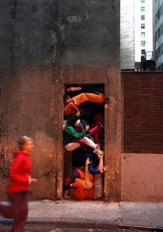 """Bodies in Urban Spaces"" by Cie. Willi Dorner    Oh my awesome"