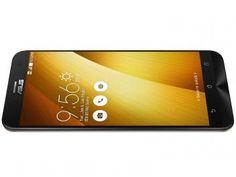 """Smartphone Asus ZenFone 2 32GB Dourado Dual Chip - 4G Câm 13MP + Selfie 5MP Tela 5.5"""" Intel QuadCore"""