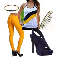 WVU gameday outfit...great for the spring Gold and Blue game!