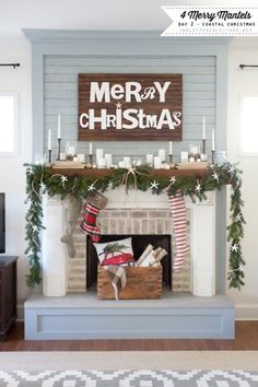 Coastal Christmas Mantel   The Lettered Cottage   Decorating Series