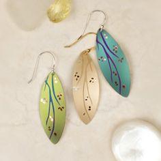 Awakening Earrings, $45.00. Handmade in California by Holly Yashi Jewelry. www.morethanwords.com