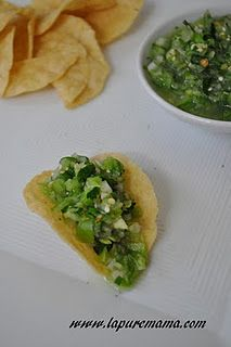 Raw Tomatillo Salsa - 12 small/med tomatillos, husked   1/2 medium shallot, roughly chopped  1 serrano pepper, diced fine  2 cloves garlic  1 lime, juiced   1 small bunch cilantro, roughly chopped (about 3/4 cup)  About 1/4 teaspoon cumin  About 1/4 teaspoon salt  About 1/2 teaspoon pepper